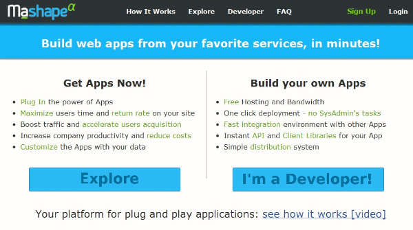 mashape easiest way to build web apps with no coding pic