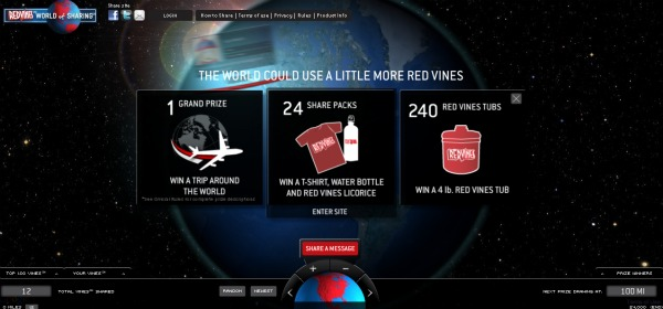 redvines world of sharing demo pic
