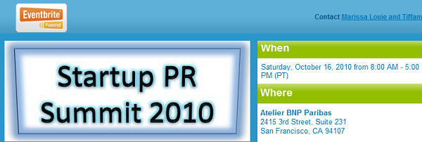 startuppr summit 2010 address and date info pic